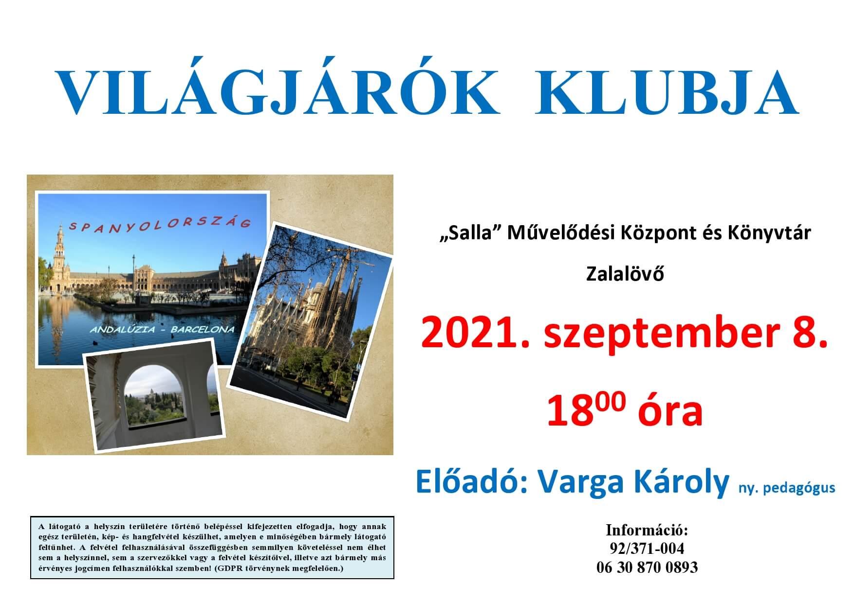 Világjárók Klubja 2021.09.08.